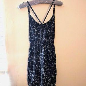Aqua black and white spaghetti strap dress